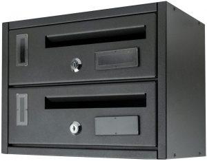 Buzón para condominios con 2 plazas ARTIGIAN FERRO - Los mejores buzones de correos que comprar por internet - Mejores buzones de exterior del mercado
