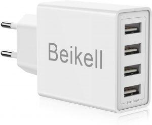 Cargador USB de Pared con 4 Puertos Cargador Beikell - Los mejores caragadores USB de pared que comprar por internet - Comprar el mejor cargador USB
