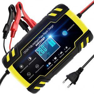 Cargador de Batería para el Coche NWOUIIAY - Los mejores cargadores de batería con pinzas para el coche que comprar por internet - Comprar el mejor cargador de baterías para el coche del mercado