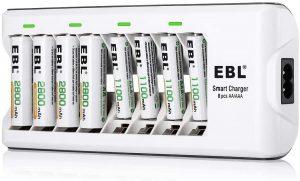 Cargador de pilas EBL 808 para pilas AA y AAA - Los mejores cargadores de pilas que comprar por internet - Mejor cargador de pilas del mercado