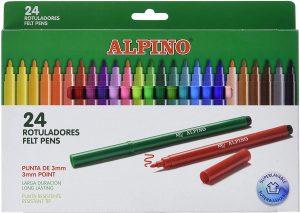 Estuche de rotuladores de colores de Alpino de 24 unidades - Los mejores estuches de rotuladores de colores que comprar por internet
