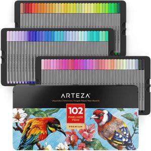Estuche de rotuladores de colores de Arteza de 102 unidades - Los mejores estuches de rotuladores de colores que comprar por internet - Mejores rotuladores de colores online