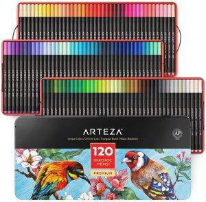 Estuche de rotuladores de colores de Arteza de 120 unidades - Los mejores estuches de rotuladores de colores que comprar por internet