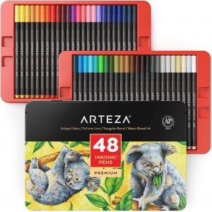 Estuche de rotuladores de colores de Arteza de 48 unidades - Los mejores estuches de rotuladores de colores que comprar por internet - Mejores rotuladores de colores online
