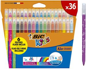 Estuche de rotuladores de colores de BIC de 36 unidades - Los mejores estuches de rotuladores de colores que comprar por internet