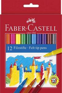 Estuche de rotuladores de colores de Faber-Castell de 12 unidades - Los mejores estuches de rotuladores de colores que comprar por internet - Mejores rotuladores de colores online
