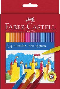 Estuche de rotuladores de colores de Faber-Castell de 24 unidades - Los mejores estuches de rotuladores de colores que comprar por internet - Mejores rotuladores de colores online