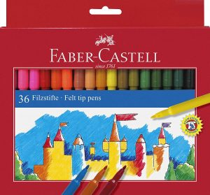 Estuche de rotuladores de colores de Faber-Castell de 36 unidades - Los mejores estuches de rotuladores de colores que comprar por internet - Mejores rotuladores de colores online