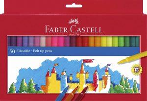 Estuche de rotuladores de colores de Faber-Castell de 50 unidades - Los mejores estuches de rotuladores de colores que comprar por internet - Mejores rotuladores de colores online