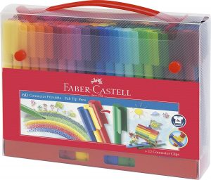 Estuche de rotuladores de colores de Faber-Castell de 60 unidades Pro - Los mejores estuches de rotuladores de colores que comprar por internet - Mejores rotuladores de colores online