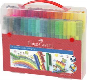 Estuche de rotuladores de colores de Faber-Castell de 80 unidades Pro - Los mejores estuches de rotuladores de colores que comprar por internet - Mejores rotuladores de colores online