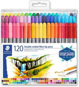 Estuche de rotuladores de colores de Staedtler de 120 unidades - Los mejores estuches de rotuladores de colores que comprar por internet - Mejores rotuladores de colores online