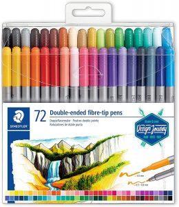 Estuche de rotuladores de colores de Staedtler de 72 unidades - Los mejores estuches de rotuladores de colores que comprar por internet - Mejores rotuladores de colores online