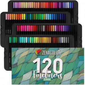 Estuche de rotuladores de colores de Zenacolor de 120 unidades - Los mejores estuches de rotuladores de colores que comprar por internet - Mejores rotuladores de colores online