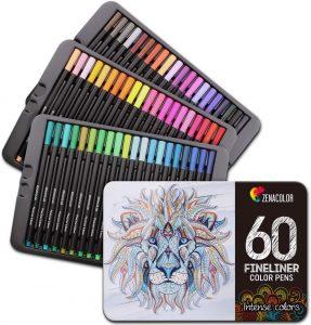Estuche de rotuladores de colores de Zenacolor de 60 unidades - Los mejores estuches de rotuladores de colores que comprar por internet - Mejores rotuladores de colores online