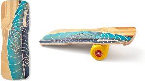 Indoboard Epic Waves - Tabla de Equilibrio Balance Trainer con Rodillo y Cojín - Los mejores indoboard para surfear que comprar por internet - Comprar el mejor indoboard del mercado para surf