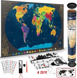 Mapa mundi rascable del mundo de Pootack - Los mejores Mapa Mundi para rascar que comprar por internet - Mejor mapamundi rascable del mercado