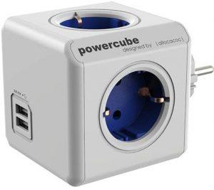 POWERCUBE ORIGINAL USB con 4 enchufes y 2 Puertos USB Cargador - Los mejores caragadores USB de pared que comprar por internet - Comprar el mejor cargador USB