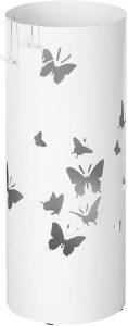 Paragüero Cilíndrico Songmics mariposas - Los mejores paragüeros que comprar por internet - Mejores paragüeros del mercado