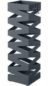 Paragüero Cuadrado Songmics cruzado en color gris 2 - Los mejores paragüeros que comprar por internet - Mejores paragüeros del mercado