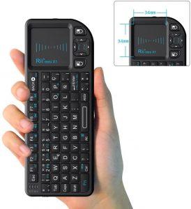 Teclado inalámbrico con ratón Rii Mini X1 - Los mejores teclados inalámbricos para el ordenador que comprar por internet - Comprar el mejor teclado inalámbrico