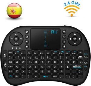 Teclado inalámbrico con touchpad Mini Rii- Los mejores teclados inalámbricos para el ordenador que comprar por internet - Comprar el mejor teclado inalámbrico