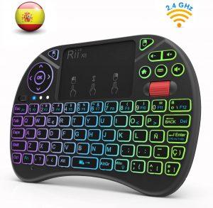 Teclado inalámbrico con touchpad Rii X8 - Los mejores teclados inalámbricos para el ordenador que comprar por internet - Comprar el mejor teclado inalámbrico