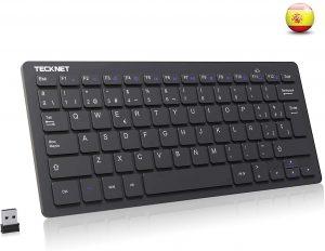 Teclado inalámbrico pequeño TECKNET - Los mejores teclados inalámbricos para el ordenador que comprar por internet - Comprar el mejor teclado inalámbrico