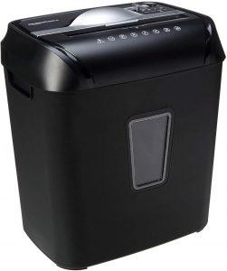 Trituradora de corte cruzado AmazonBasics hasta 12 hojas - Las mejores trituradoras de papel que comprar por internet - Mejor destructora de papel del mercado