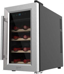 Vinoteca Cecotec de 8 botellas de madera - Las mejores vinotecas que comprar por internet - Mejor vinoteca pequeña del mercado
