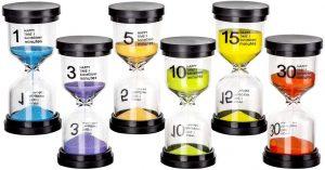 Set de 6 relojes de arena gruesos - Los mejores relojes de arena del mercado - Relojes de arena