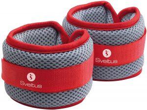 Pesos para el tobillo de Sveltus - Los mejores pesos para el tobillo del mercado - Tobilleras ajustables de peso