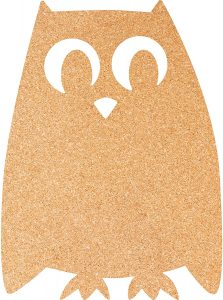 Tablero de corcho con forma de búho - Los mejores tableros de corcho