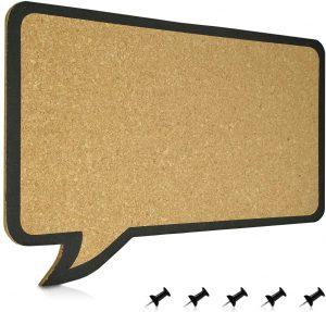 Tablero de corcho con forma de diálogo de Navaris - Los mejores tableros de corcho