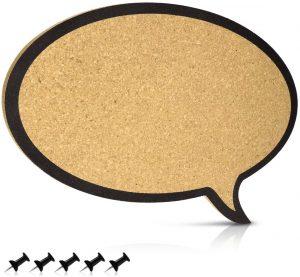 Tablero de corcho con forma de hablar de Navaris - Los mejores tableros de corcho