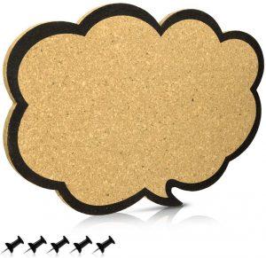 Tablero de corcho con forma de nube de Navaris - Los mejores tableros de corcho