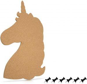 Tablero de corcho con forma de unicornio - Los mejores tableros de corcho