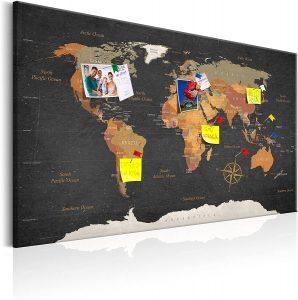Tablero de corcho con mapa PRO - Los mejores tableros de corcho