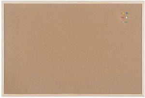 Tablero de corcho con marco de madera de Bi Office - Los mejores tableros de corcho